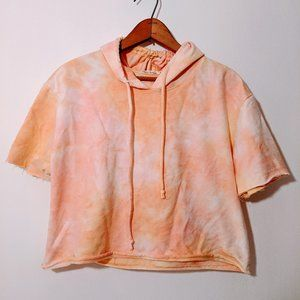 Heart & Hips Peach Crop Hoodie Size Large